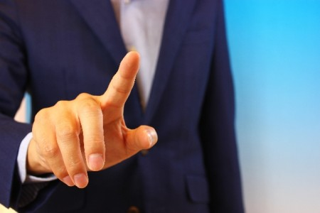 man_pointing