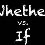 "whetherとifの違いを""知っている""という事がどういう事か?"